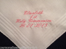 Personalised 1st Holy Communion Handkerchief